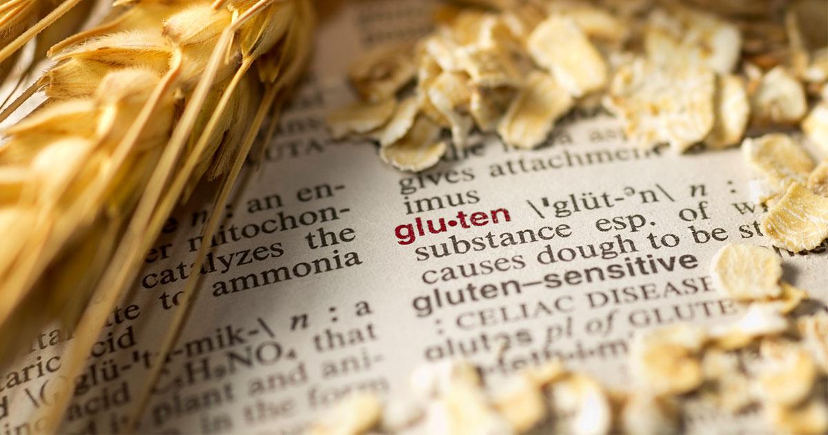 """Grain surrounding dictionary open to """"gluten"""""""