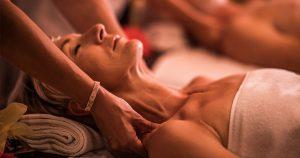 Older man receiving professional massage