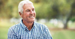 Older man outside