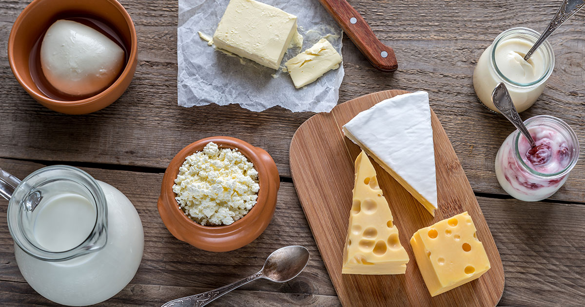 Cheese, milk and other calcium-rich foods