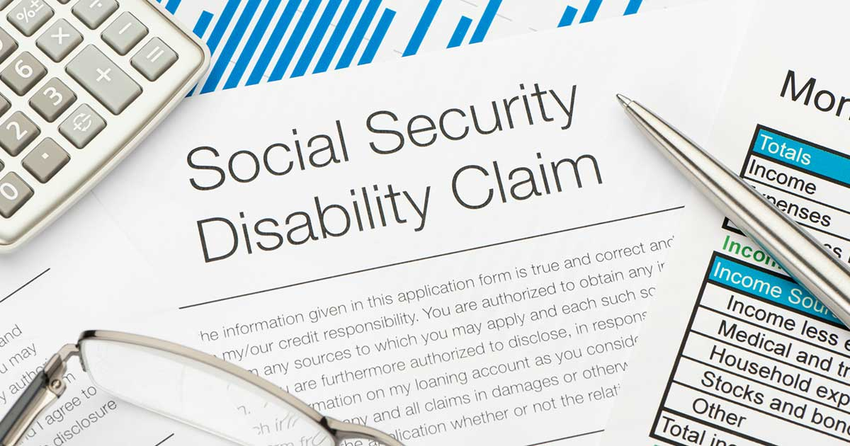 a social security disability claim form, an example of disability benefits for osteoporosis